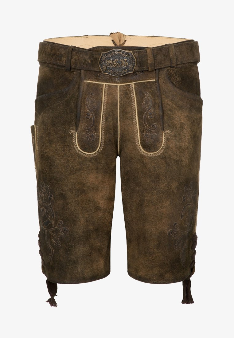 Spieth & Wensky - FC BAYERN HAVEL - Leather trousers - brown