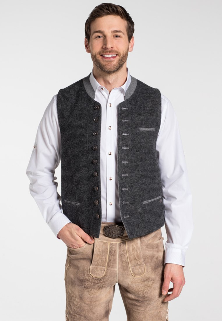 Spieth & Wensky - KNALLER - Waistcoat - dark grey