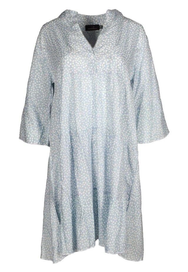 Shirt dress - hellblau/weiß