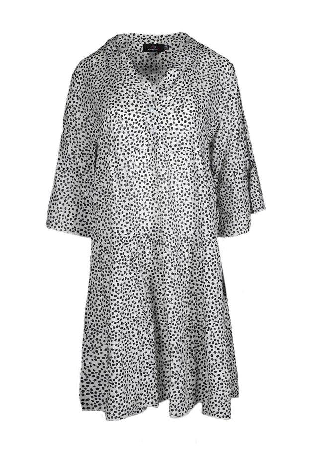 Shirt dress - weiß/schwarz