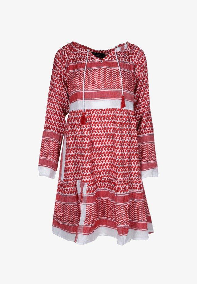 VALENTINA - Day dress - rot/weiß