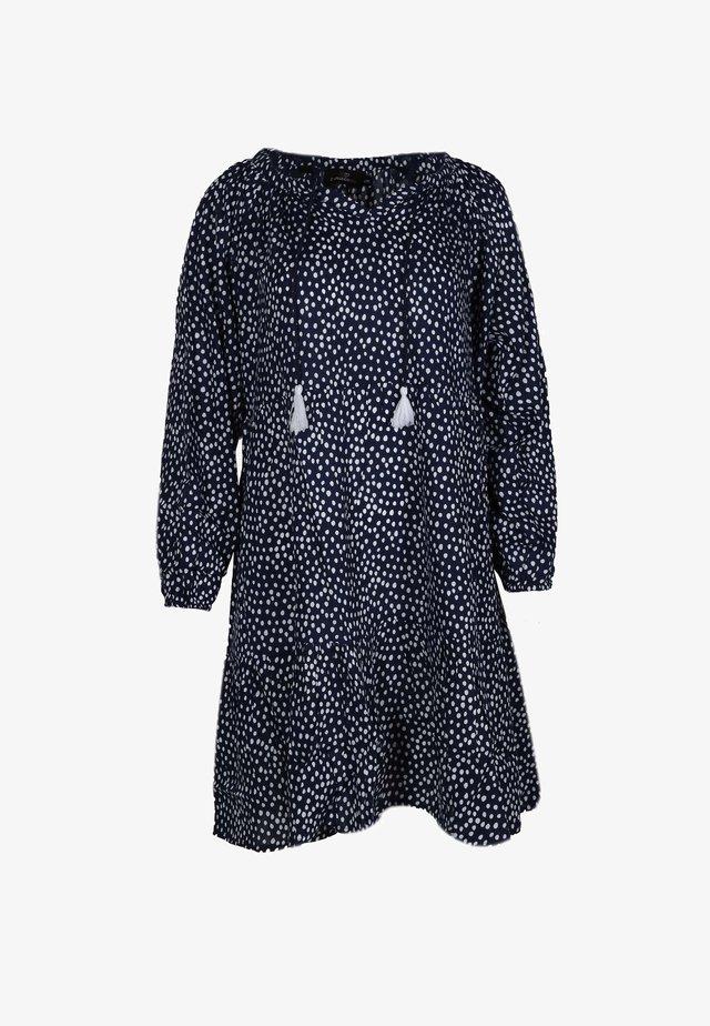 JANA - Day dress - marine/weiß