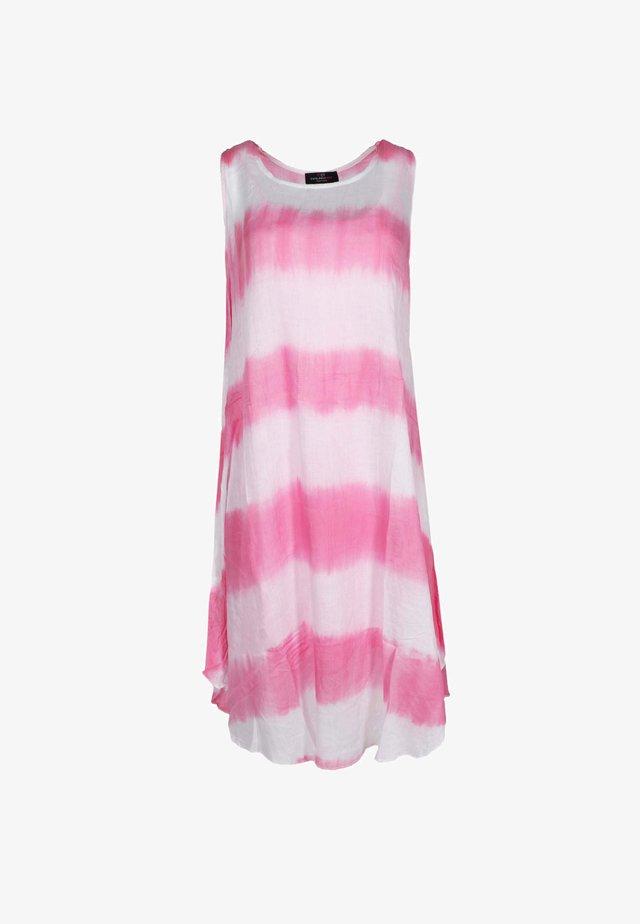 BATIK - Day dress - pink/weiß