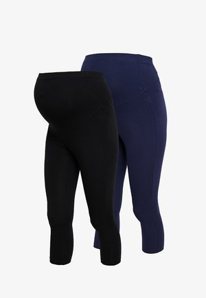 2 PACK - Leggingsit - black/dark blue
