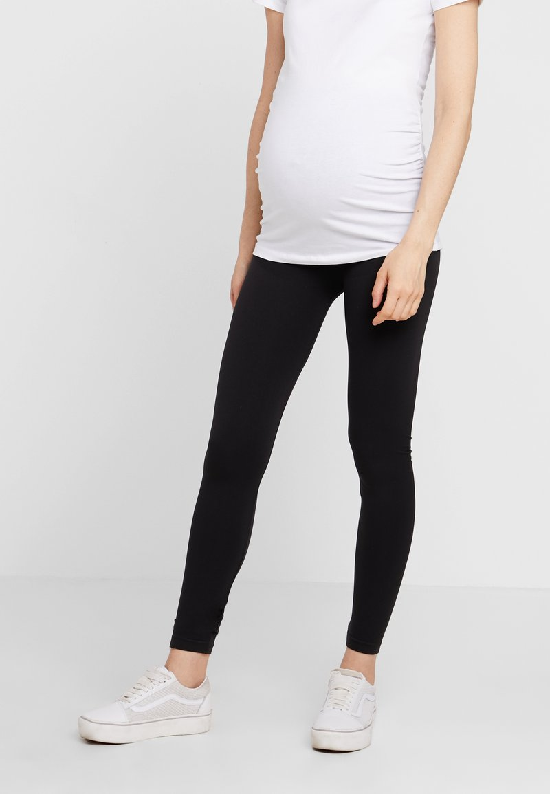 Zalando Essentials Maternity - 2 PACK - Leggings - black/grey