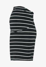 Pencil skirt - black/off white