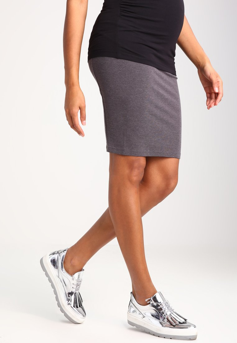 Zalando Essentials Maternity - Pencil skirt - dark grey melange