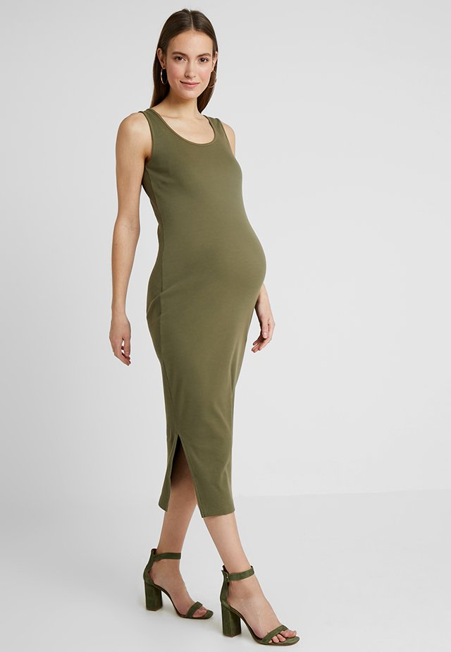Robe longue - burnt olive