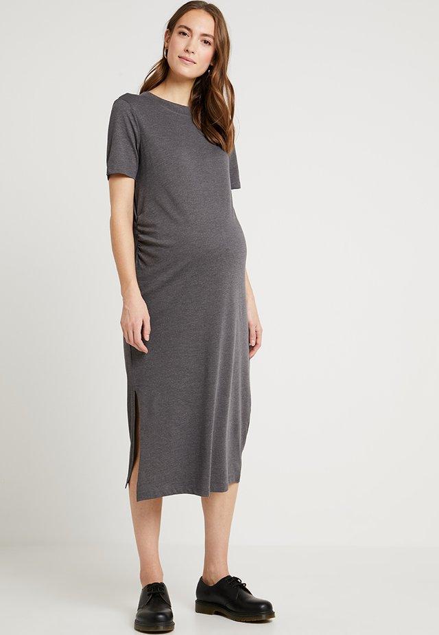 Sukienka z dżerseju - dark grey mélange
