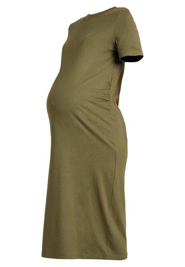Jerseyklänning - burnt olive