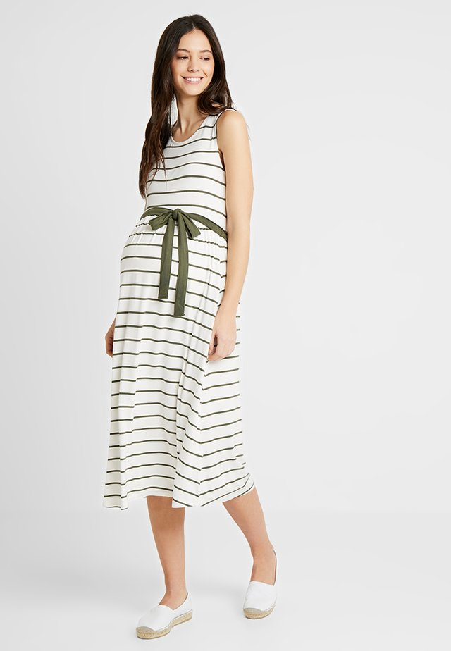 Žerzejové šaty - white/green