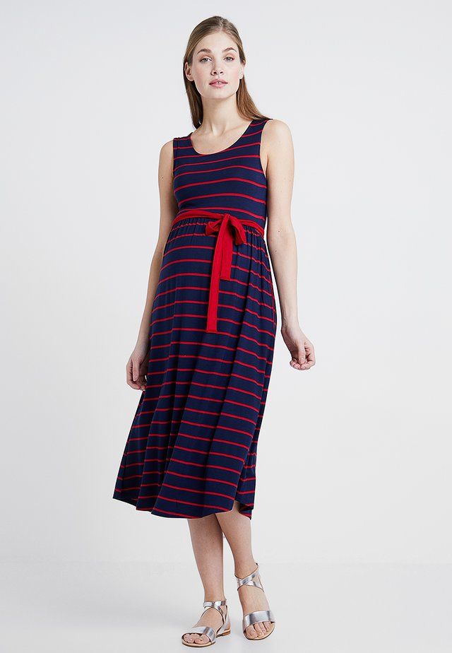 Jersey dress - mari blue/ barbados cherry