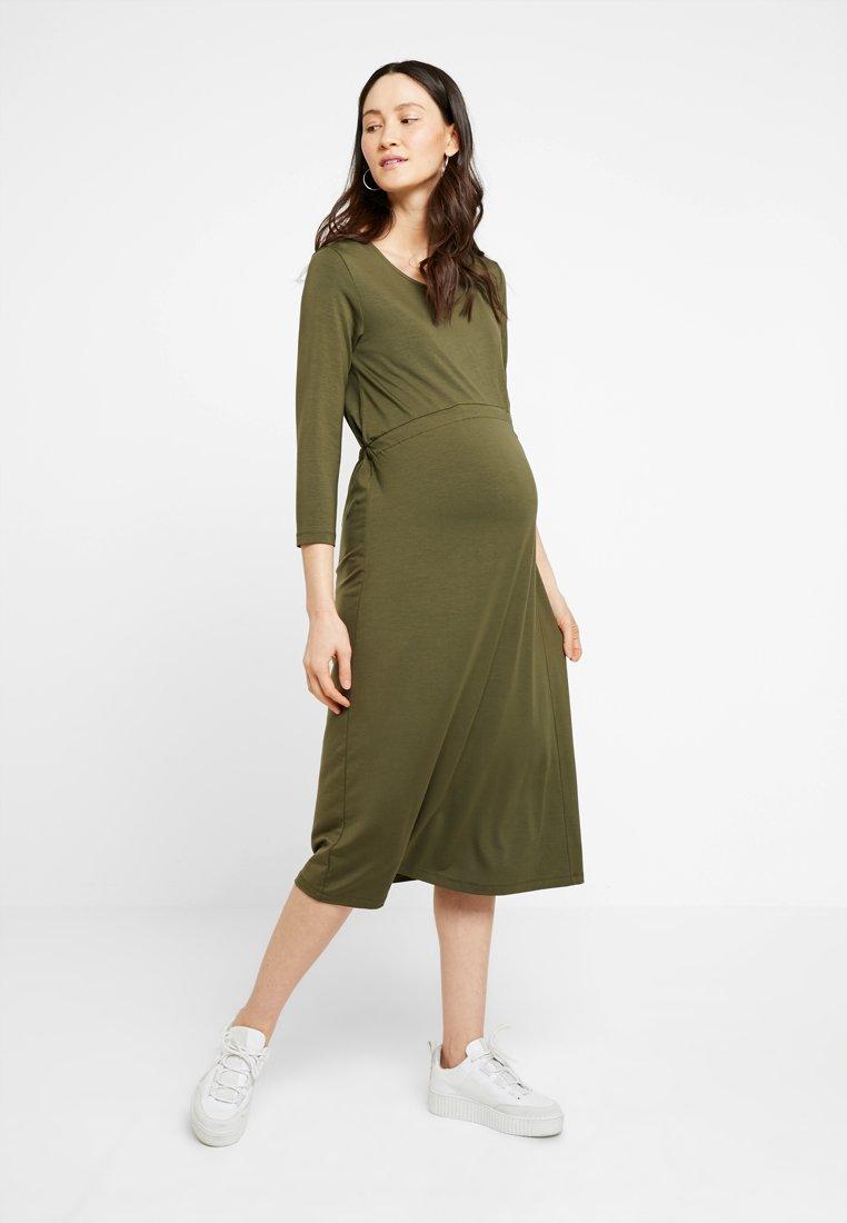 Zalando Essentials Maternity - Jersey dress - olive night