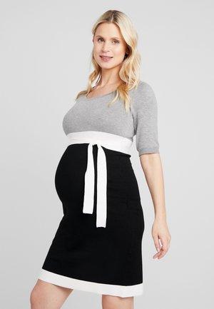Pletené šaty - grey/black