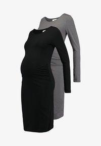 Zalando Essentials Maternity - 2 PACK - Etuikjoler - black/mottled dark grey - 5