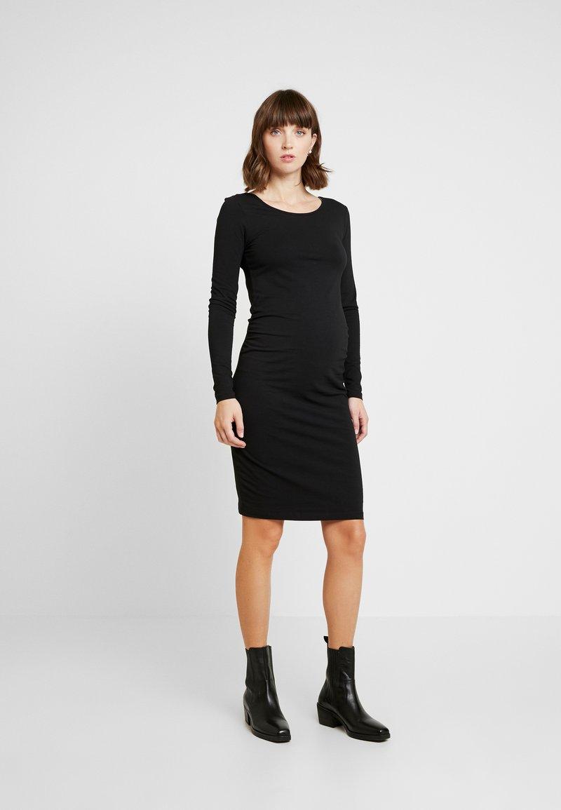 Zalando Essentials Maternity - 2 PACK - Shift dress - black/mottled dark grey