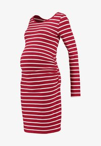 Zalando Essentials Maternity - Jerseyjurk - dark red/white - 5