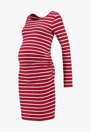 Vestito di maglina - dark red/white