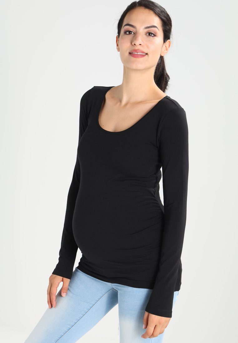 Zalando Essentials Maternity - 2 PACK  - Long sleeved top - black