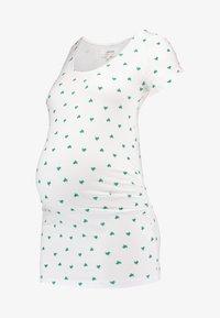 Zalando Essentials Maternity - T-shirt z nadrukiem - bright white - 4