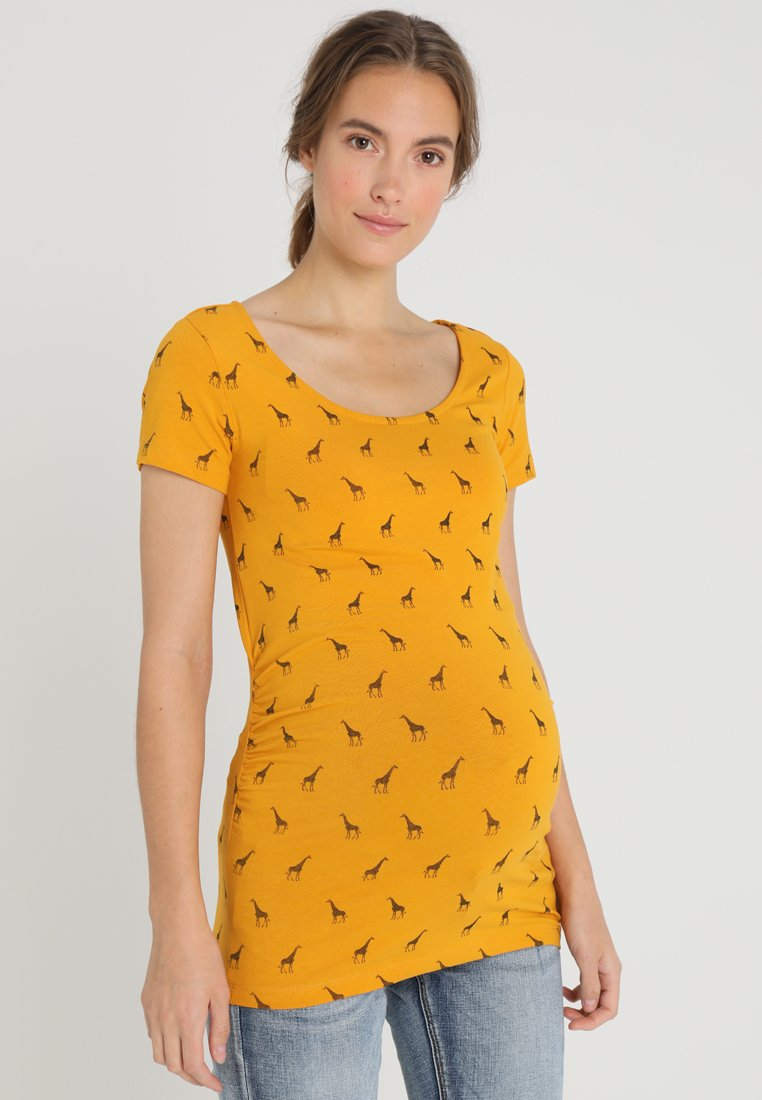 Zalando Essentials Maternity - T-Shirt print - golden yellow/black