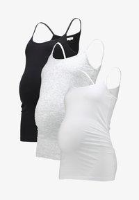 Zalando Essentials Maternity - 3 PACK - Top - black/greymel/white - 6