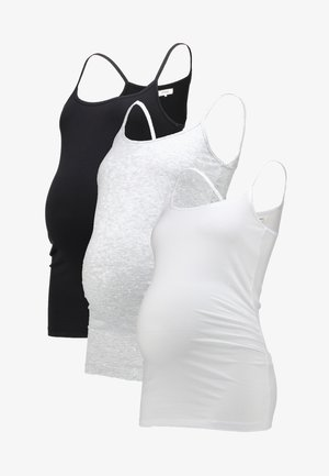 3 PACK - Top - black/greymel/white