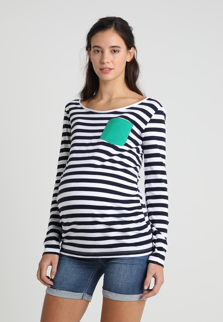 Zalando Essentials Maternity - STRIPE COLOUR POCKET - Langarmshirt - dark blue/white