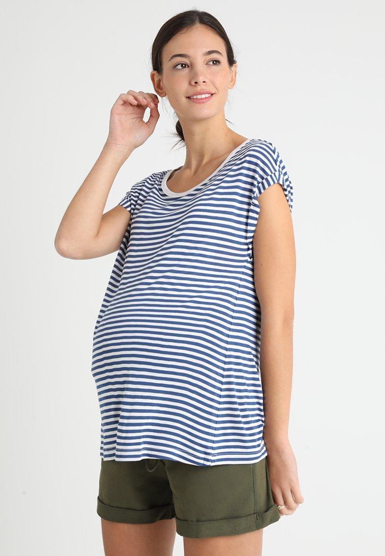 Zalando Essentials Maternity - T-shirt imprimé - blue/white