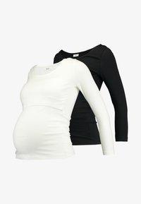 Zalando Essentials Maternity - 2 PACK - Långärmad tröja - off-white/black - 4