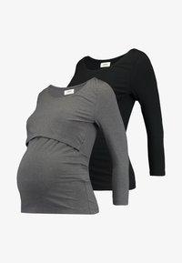 black/mottled grey