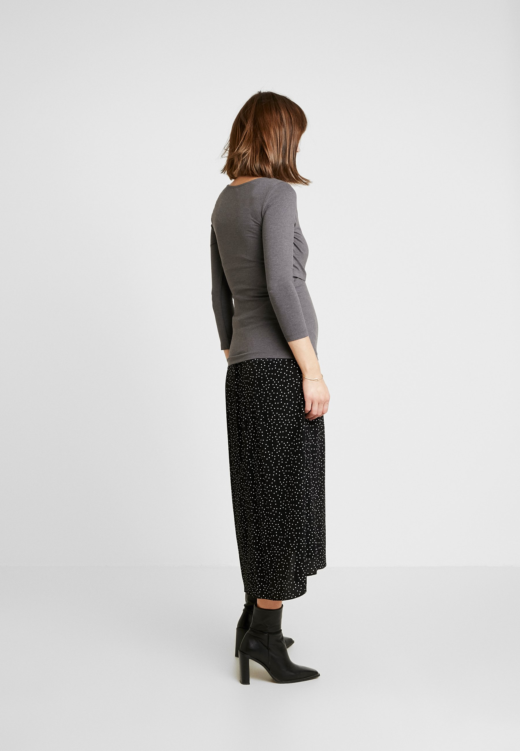 Zalando Essentials Maternity 2 PACK - Topper langermet - black/mottled grey