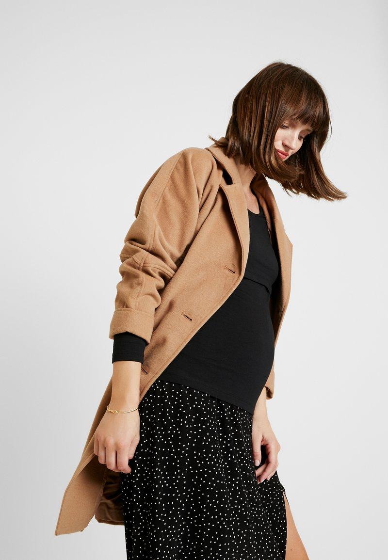 Zalando Essentials Maternity - 2 PACK - Long sleeved top - black/mottled grey