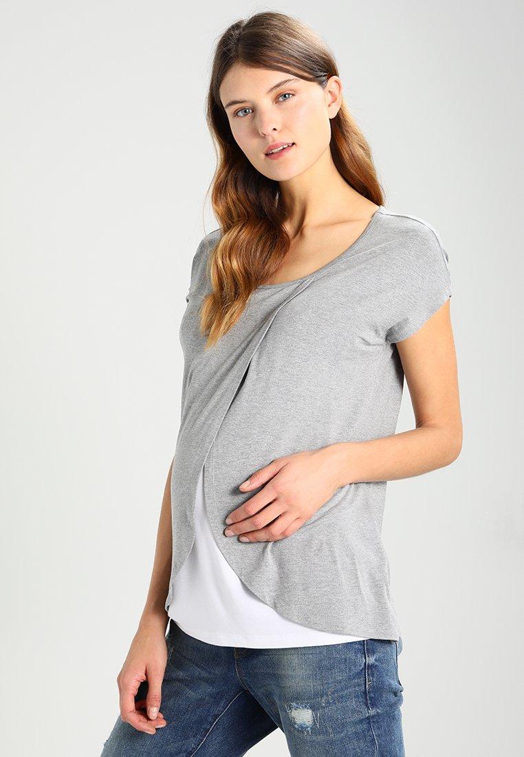 Zalando Essentials Maternity - T-Shirt print - mottled grey