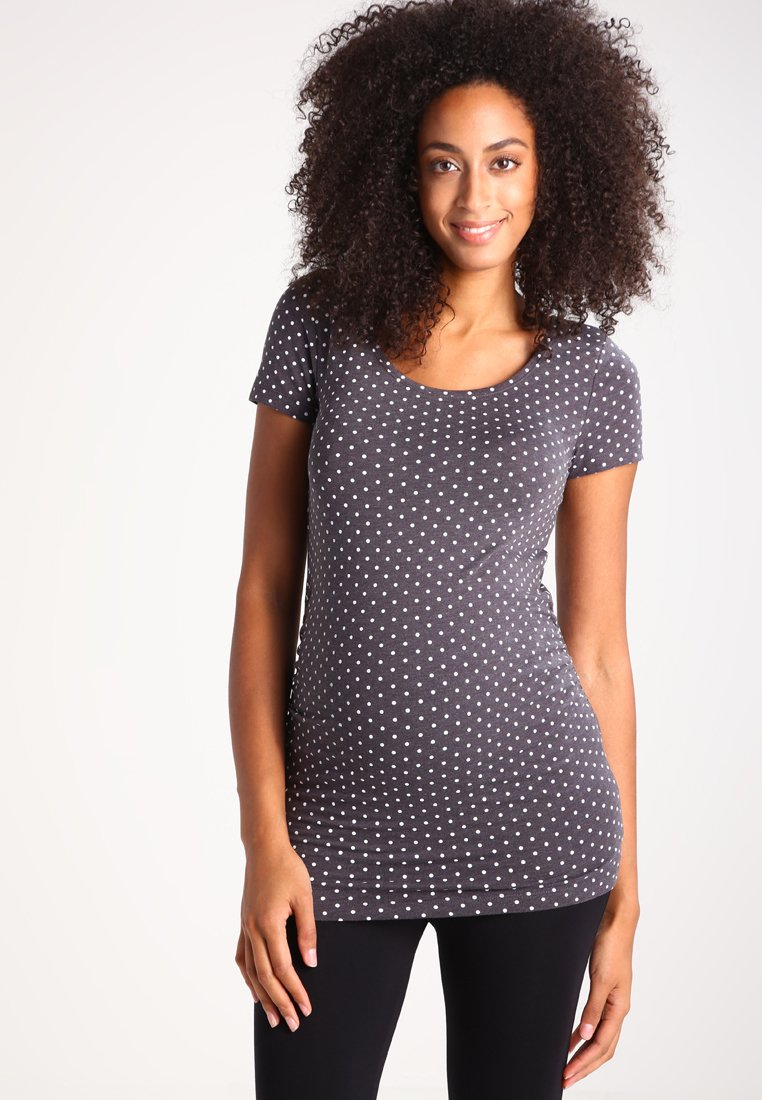 Zalando Essentials Maternity - T-shirt z nadrukiem - grey
