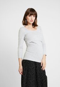 Zalando Essentials Maternity - Langærmede T-shirts - mottled light grey - 0