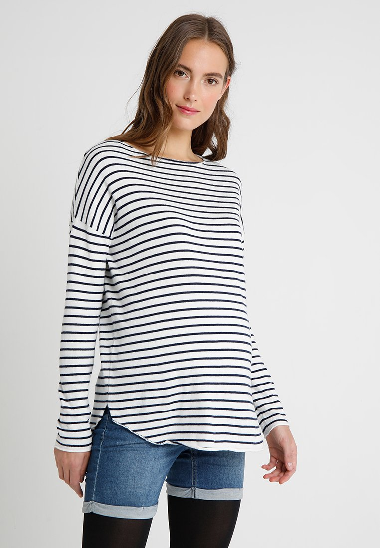 Zalando Essentials Maternity - Strickpullover - off white/dark blue