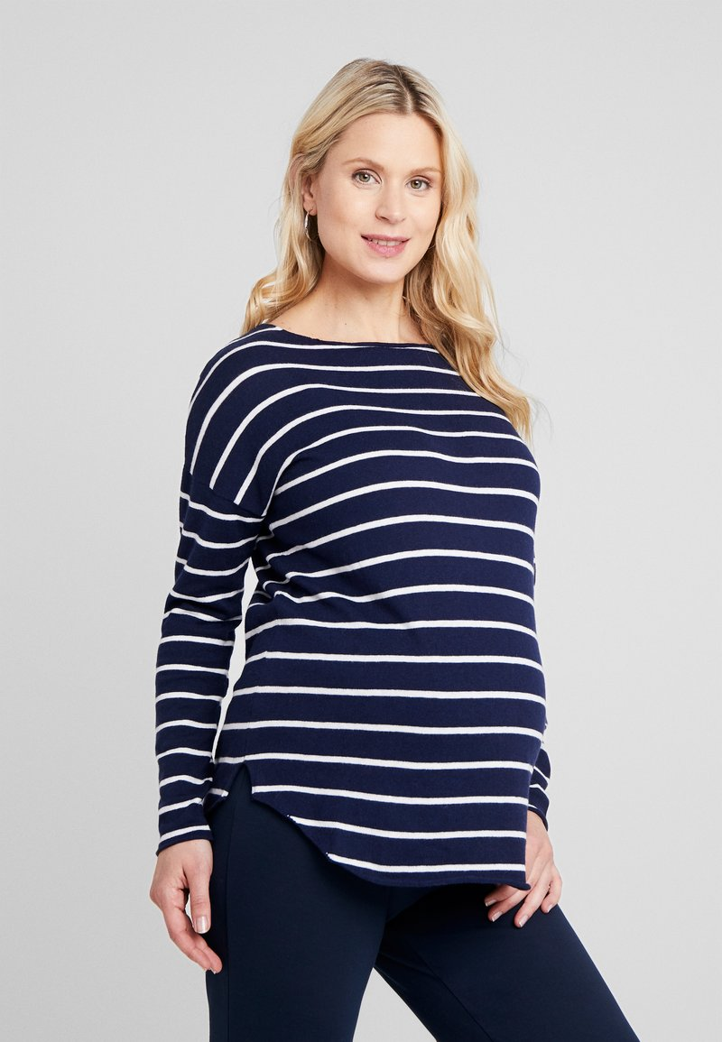 Zalando Essentials Maternity - Jumper - dark blue/off-white