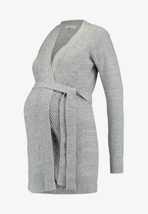 Cardigan - mid grey melange