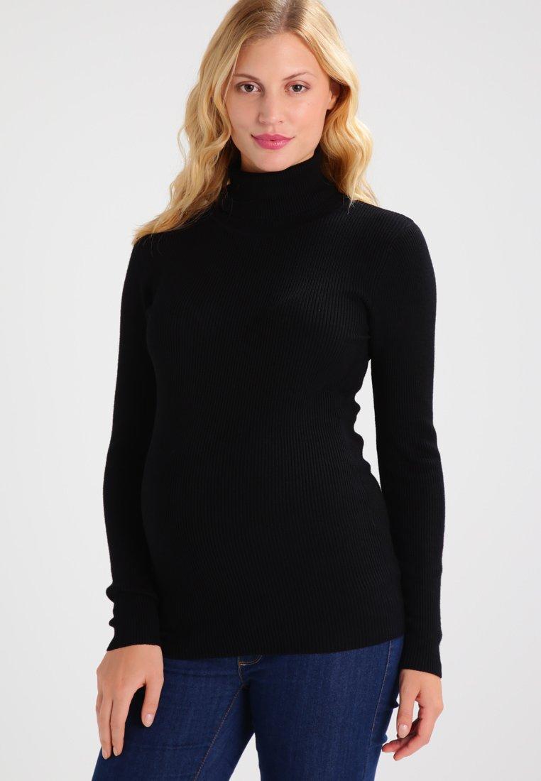 Zalando Essentials Maternity - Stickad tröja - black