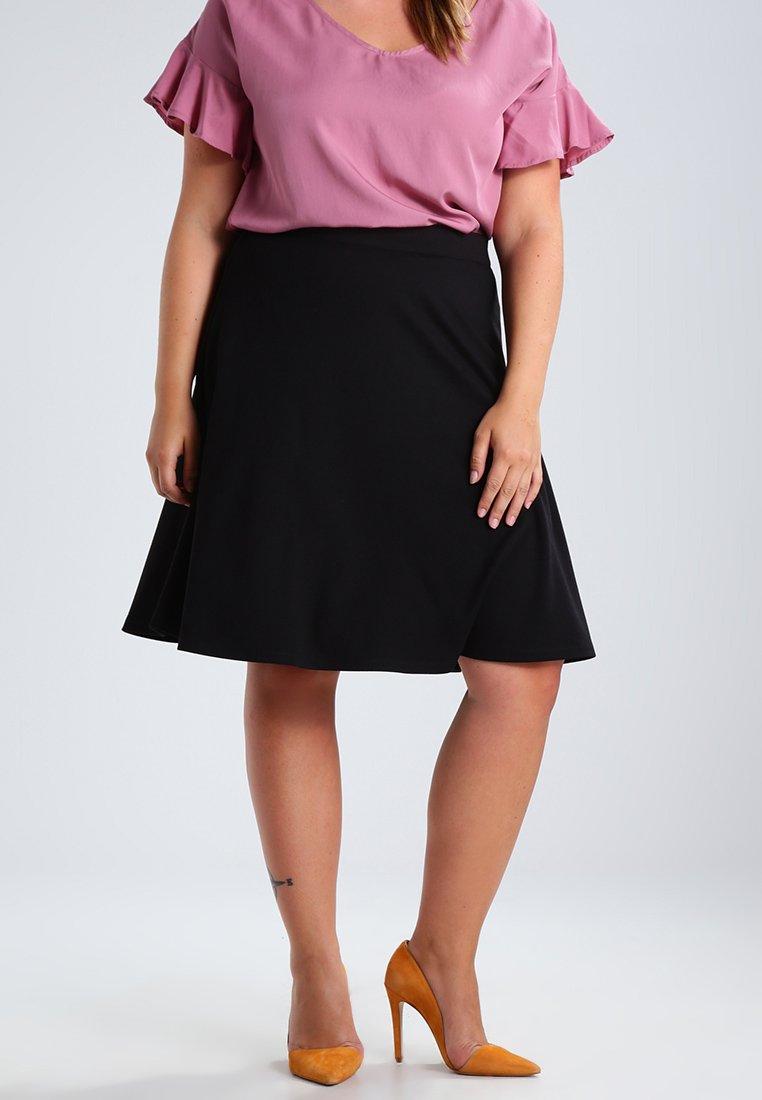 Zalando Essentials Curvy - A-line skjørt - black