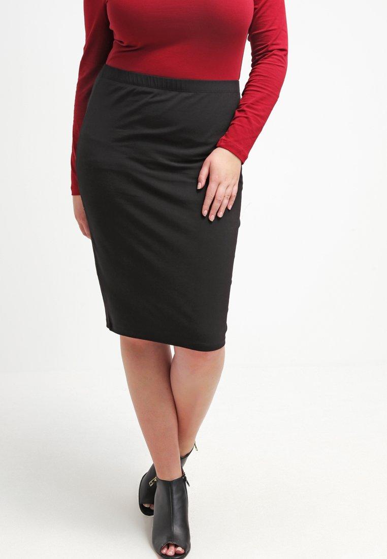 Zalando Essentials Curvy - Pouzdrová sukně - black