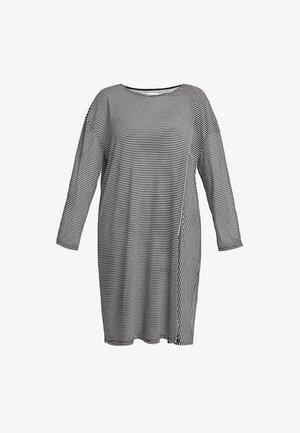 Strikket kjole - black/white