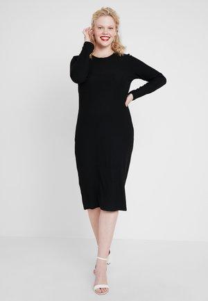 Pletené šaty - black/black