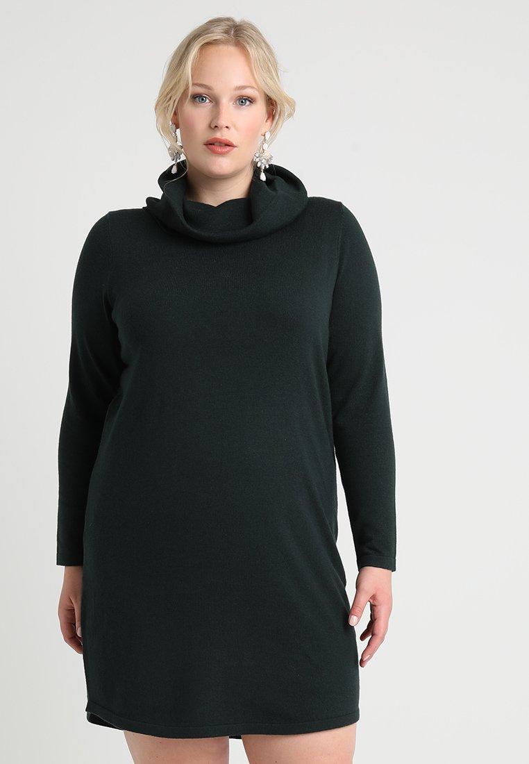 Zalando Essentials Curvy - Strikket kjole - scarab