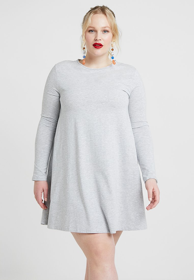 Zalando Essentials Curvy - Jerseykleid - light grey melange