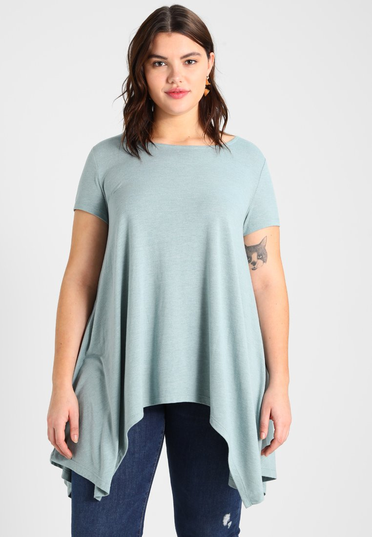 Zalando Essentials Curvy - T-Shirt print - silver blue