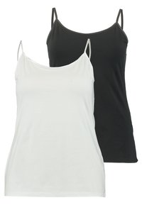 Zalando Essentials Curvy - 2 PACK - Top - black/white - 0