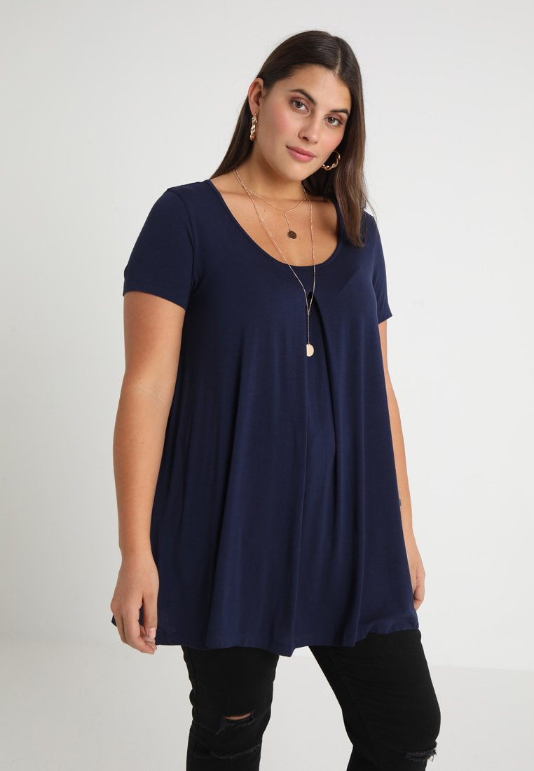 Anna Field Curvy - T-shirt imprimé - maritime blue