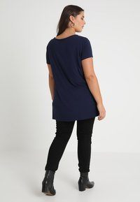 Anna Field Curvy - Print T-shirt - maritime blue - 2